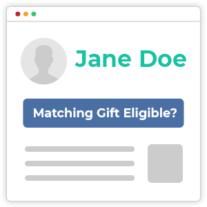 Use automation tools to direct donors to the necessary matching gift forms.
