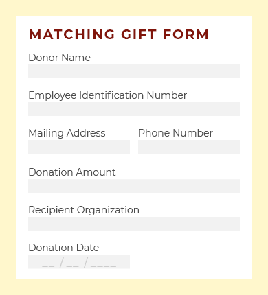 Here's an example of a paper matching gift form.