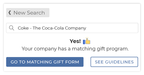 This is the third step to accessing matching gift forms through a database.