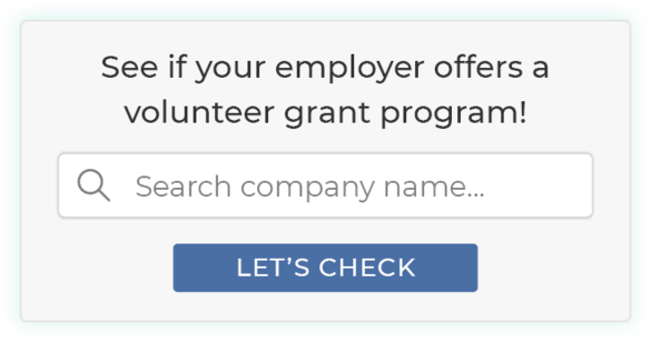 Here's an example of a volunteer grant search tool.