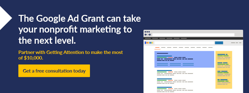 Contact us at Getting Attention to learn more about the Google Ad Grant