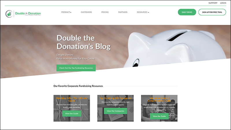 Check out Double the Donation's nonprofit marketing blog.